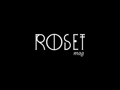 Roset Mag luxury elegance darkness geometry gothic serif chicel tall editorial magazine art deco typography type