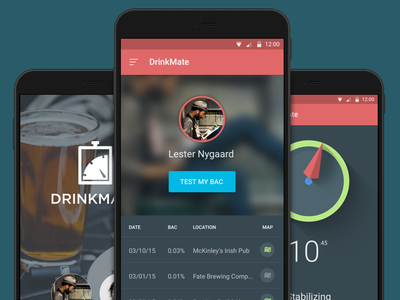 DrinkMate App (rev 1) ui mobile material material design google android