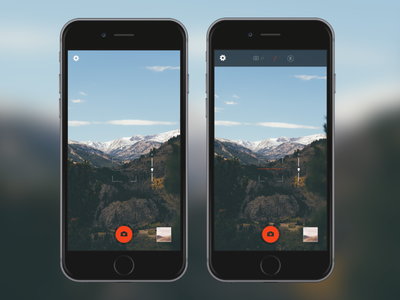 Experiment: Camera UI w/horizon Level iphone ios portrait ux mobile ui camera
