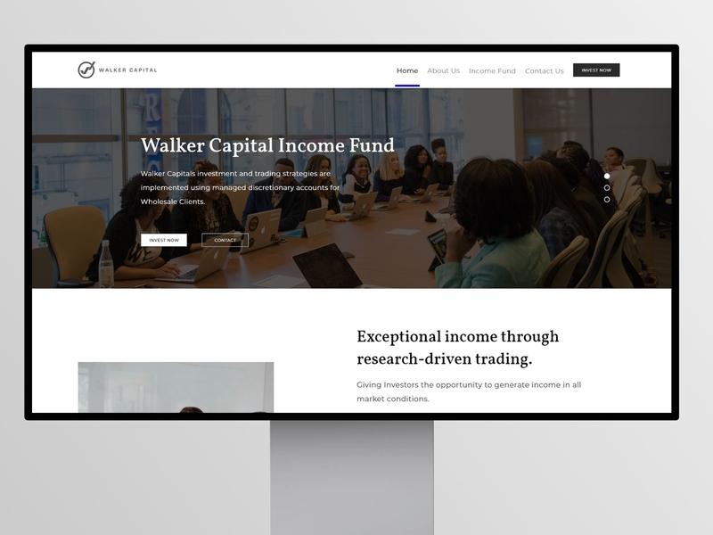 Walker Capital Income Fund Website website design ux user interface mockup website user experience uiux ui design userinterface