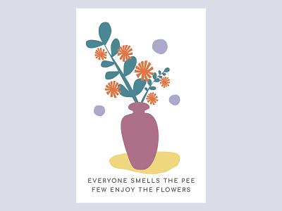 Flowers illustration blueberryheart flower illustration postcard postcard design postcards illustration