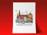 Copenhagen city illustration
