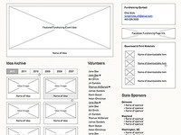 Fundraiser page wireframe 1