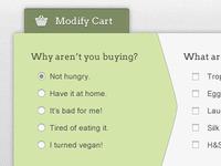 Ficticious Shopping Cart Form