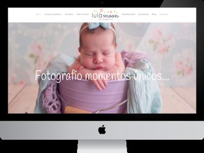 Lulamoon Photographer image gallery responsive logo web design