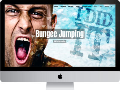 Bungee Home ecommerce responsive graphic  design extreme sports wordpress web design