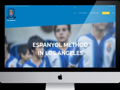 Web Espanyol LA ux designer ui graphic  design web design responsive