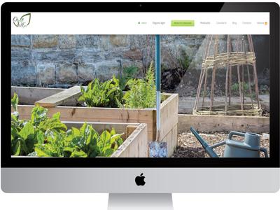 Organic Ager Web Design ux designer ecofriendly logo wordpress responsive web design