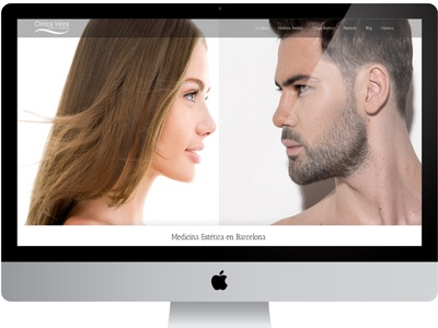 Clinica Vieira Web Design medecine aesthetic wordpress graphic  design responsive web design