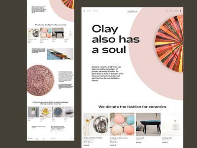 Redesign site for the ceramics studio redesign grids minimalism ui ux figma design