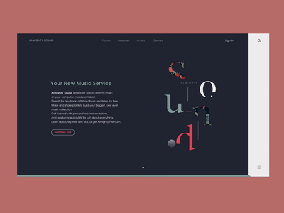 Almighty Sound : Design for a Music Service