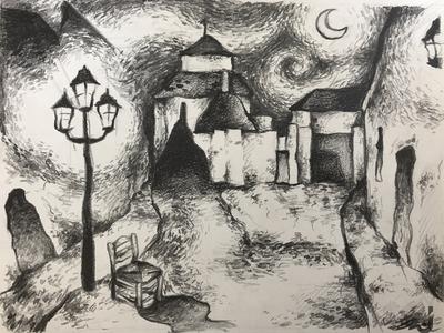 Van Gogh's style drawing.