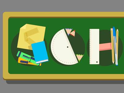 School Typo on Illustrator