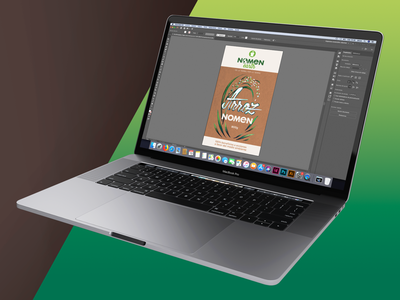 Rice Packaging lettering mockup timelapse youtube graphic designer identity product eco friendly eco gradient green packaging rice branding graphic design j signer j.signer j. signer jsigner