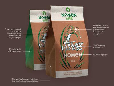 Rice Packaging | J. Signer youtube timelapse product identity proposal branding eco mockup rice nomen earth nomen malaga diseño gráfico graphic design packaging j. signer j signer j.signer jsigner