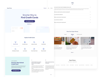 Landing Page for Selling Credit Cards Online finance credit cards web design website landing page ui uxdesign uidesign