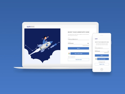 Onboarding UX Case Study - NISM Website form login page sign in sign up onboarding ui user interface nism india website user experience ui design ux