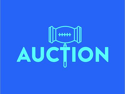 Auction brand logo illustration