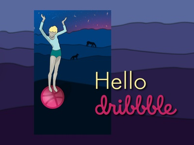 Hello Dribble! Girl on the ball