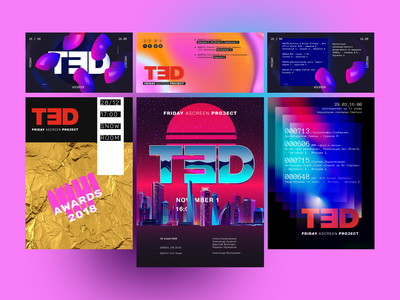 Posters TЭD vector poster design