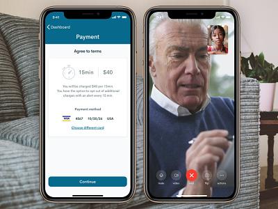 Telemedicine iOS app telemedic healthcare call video ios design ui app coronavirus doctor telemedicine