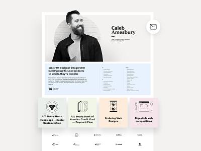 Portfolio Redesign cv resume ui flat designer custom minimal clean branding design website personal site portfolio