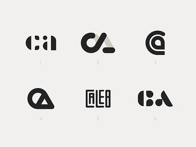 CA Monograms monogram monograms c ca adobe illustrator brand personal branding design lettering typography logo logomark simple caleb