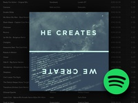 HE CREATES, WE CREATE  ( Spotify Playlist )