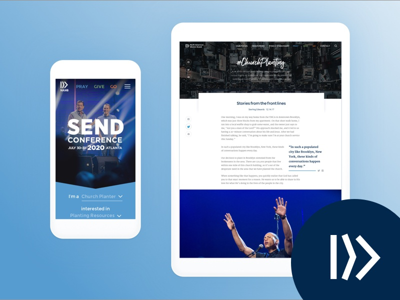 NAMB church website responsive devices design ui