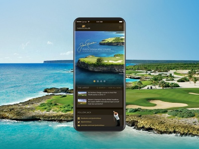 Pitch Concept portal beach design ui mobile golf