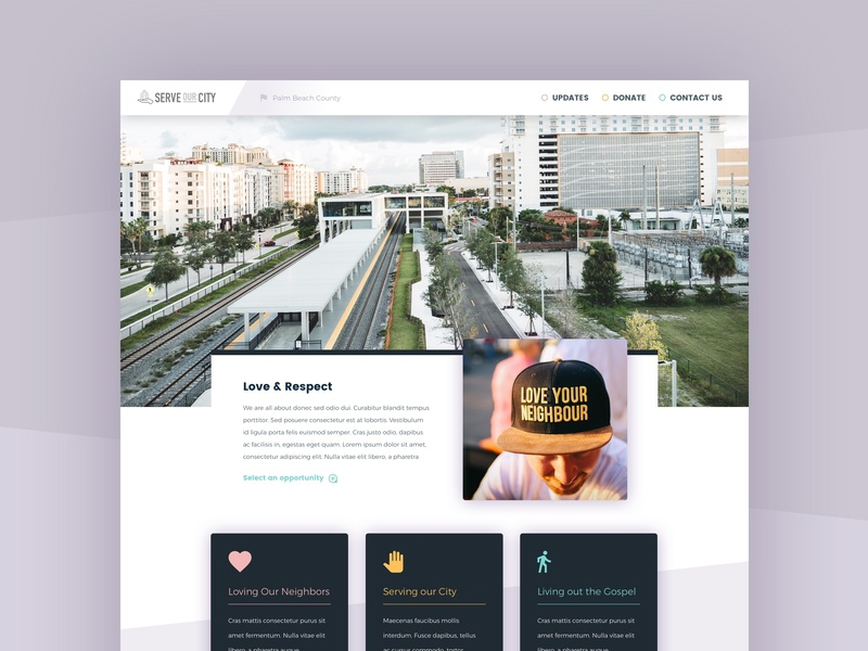 Volunteer Platform UI ui front-end design palm beach west palm beach city love volunteer serve