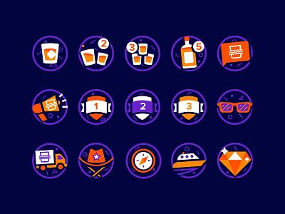 Badge Icons sketch illustration icons badge