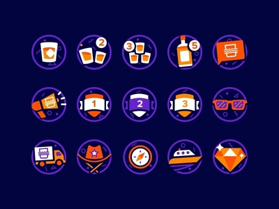 Badge Icons sketch illustration icons badge