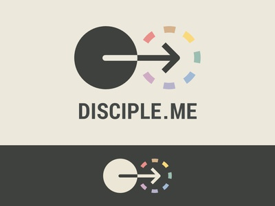 Discipleship Curriculum Branding logo follow church jesus christian discipleship