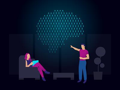 Visualizing AI computer vision cv illustration machine learning ml artificial intelligence ai
