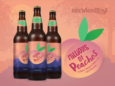 MILLIONS of Peaches  - Levatas Brewmasters ale brew peach peaches beer label labels beer