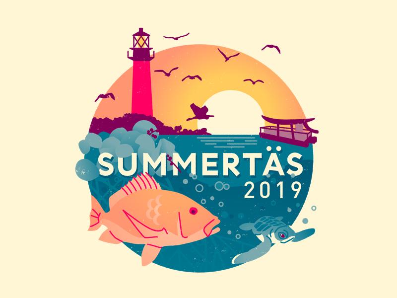 Summertas 2019 Event Logo fl ocean collage nature summit tech west palm beach jupiter florida summer branding brand logo