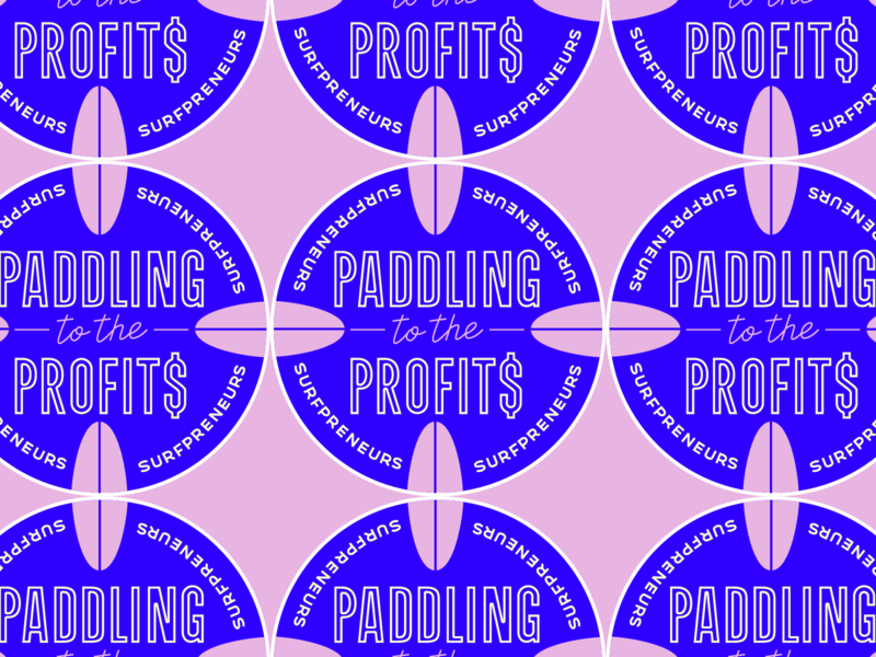 Paddling to the profits Sticker
