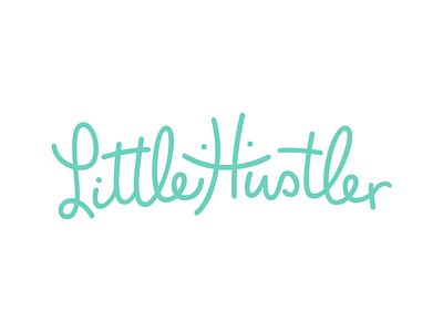 Little Hustler branding brand type typography hustler stroke line logo newborn apparel clothing breastfeeding breast playful smile little logo logotype lettering kids