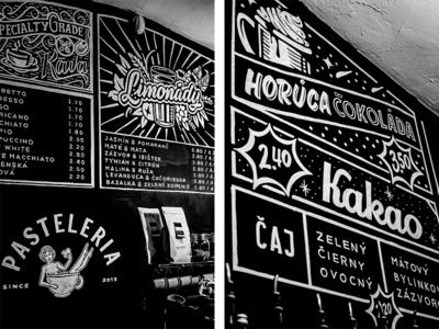 Chalkboard design for Local Cafe