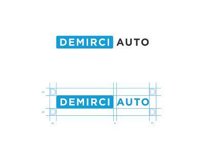 NEW Logo for Demirci Auto vector design black blue clean typography branding identity logo