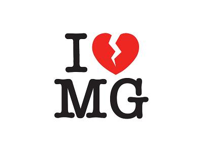 I ♥ MG vector clean typography branding identity logo design ui