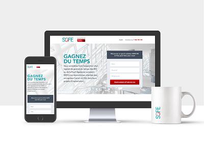 Landing Page for SOFE Management Software landing page design ux ui website