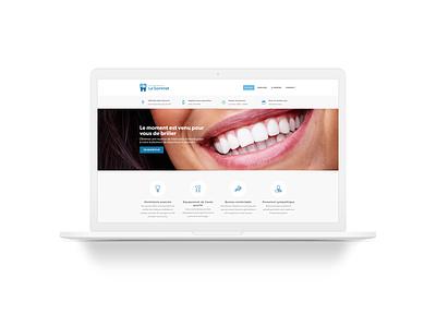 Clinique Dentaire Le Sommet dentist white web blue clean design ux ui