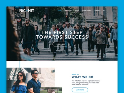 Nic Hit Website web typography clean blue design ux ui