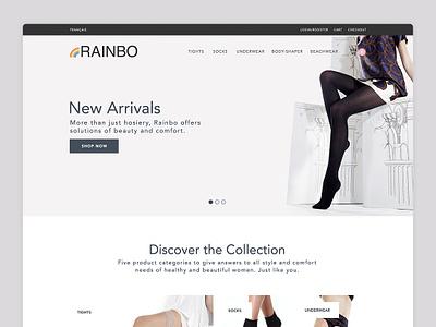 Rainbo Website web webdeisgn website clean design ux ui
