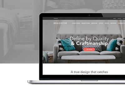 Beaudecor Website grey clean design ux ui