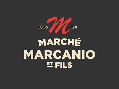 Metro Marché Marcanio et Fils market black design logotype logo