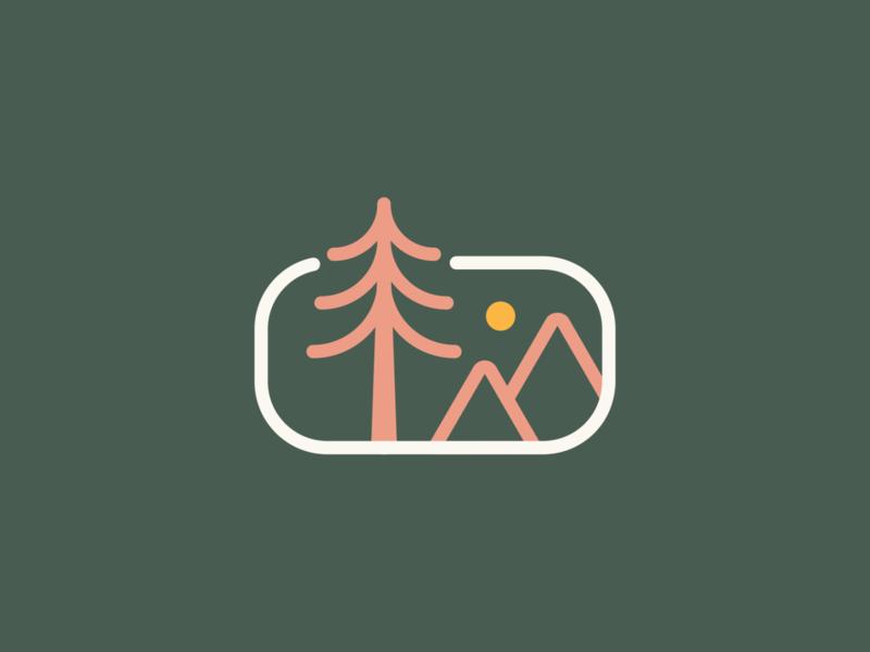 Take me to the mountains line art adventure outdoors sun mountain vector branding brand identity icon logo illustration design