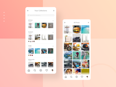 InstaShare collaborate share app interaction android ios social media mobile mobile app design product design ui ux userinterface collections instagram